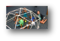 Geodesic dome made by children